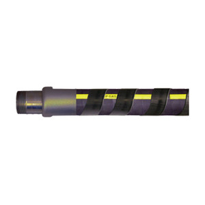 F & R Manufacturing High Density Polyethylene Spiral Hose Wrap - Black