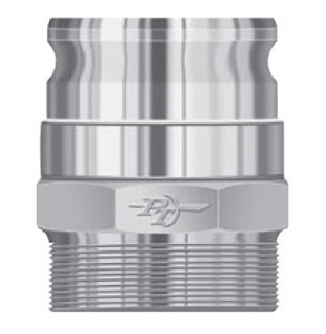 PT Coupling Stainless FSV-Coupler 360° Swivel Male Adapter x Male NPT