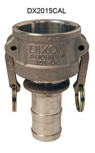 Dixon Aluminum Part C Reducing Female Coupler x Hose Shank