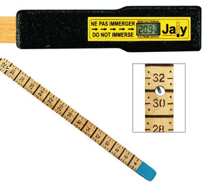 Wooden 16 ft. Long Tank Gauge with Built-In Electronic Thermometer