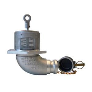 Morrison Bros. 603ALC Series 2 in. Manually Operated Emergency Valve, Male Adapter Outlet w/ Screen & Nitrile Rubber Seal