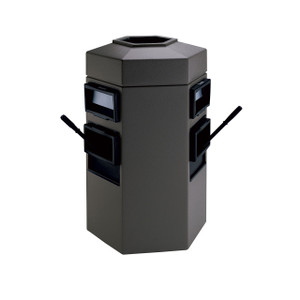 Commercial Zone 35 Gal Double Sided Waste/Windshield Center (Charcoal)