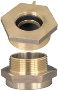 Dixon Brass 2 1/2 in. Female to Male Hex Nipples