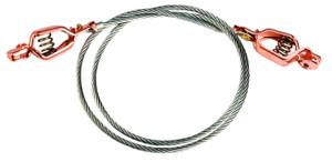 Justrite Grounding Wire with 5/8 in. Dual Alligator Clips - 3 Ft