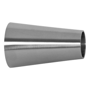 Dixon Sanitary B31W Series Polished 304 SS Concentric Weld Reducers