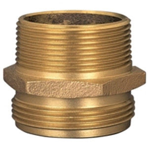 Dixon Brass 1 in. Male to Male Hex Nipples