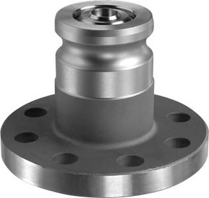OPW 1600ANF Series Stainless Steel Kamvalok Railcar Male Adapter x 150 lb Flange - PTFE Seals