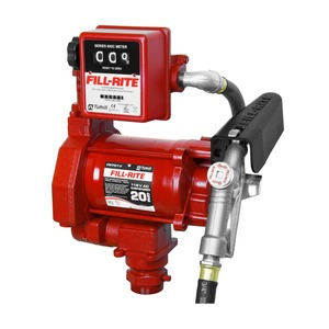 Fill-Rite FR701V 115V AC Fuel Transfer Pump w/ Manual Nozzle and Meter - 20 GPM