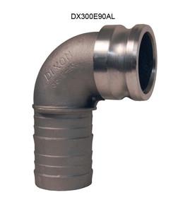 Dixon Aluminum Male Adapter x Hose Shank 90° Elbow