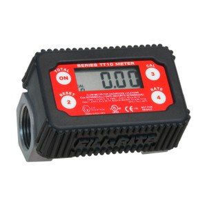 Tuthill TT10 Series 1 in. NPT Nickel-Plated Aluminum Inline Turbine Meters