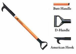 Leatherhead Tools 3 ft. Dog-Bone American Hook w/D-Handle - Orange