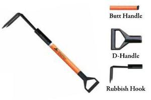 Leatherhead Tools 4 ft. Dog-Bone Rubbish Hook w/D-Handle - Orange