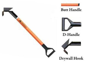 Leatherhead Tools 8 ft. Dog-Bone Drywall Hook w/Butt Handle - Orange