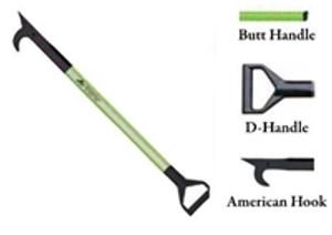 Leatherhead Tools 8 ft. Dog-Bone American Hook w/Butt Handle - Lime