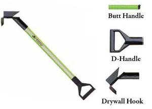 Leatherhead Tools 8 ft. Dog-Bone Drywall Hook w/Butt Handle - Lime