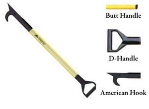 Leatherhead Tools 6 ft. Dog-Bone American Hook w/Butt Handle - Yellow