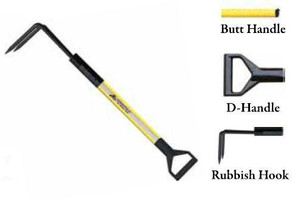Leatherhead Tools 4 ft. Dog-Bone Rubbish Hook w/D-Handle - Yellow