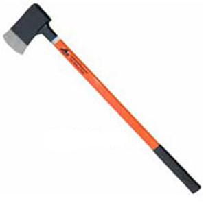 Leatherhead Tools 6 lb. Flat Head Axe Fiberglass Handle w/Reflective Tape - Orange