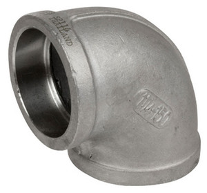 Smith Cooper Cast 150# Stainless Steel 2 1/2 in. 90° Elbow Fitting - Socket Weld