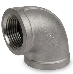 Smith Cooper Cast 150# Stainless Steel 1/2 in. 90° Elbow Fitting - Threaded