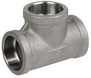 Smith Cooper Cast 150# Stainless Steel 3 in. Tee Fitting - Socket Weld