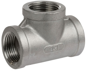 Smith Cooper 150# Cast Stainless Steel 3/8 in. Tee Fitting - Threaded