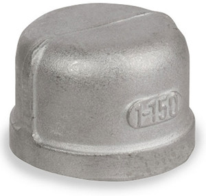 Smith Cooper Cast 150# Stainless Steel 1 1/2 in. Cap Fitting - Threaded
