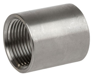 Smith Cooper Cast 150# Stainless Steel 2 1/2 in. Full Coupling Fitting - Threaded