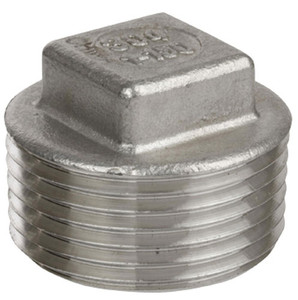 Smith Cooper Cast 150# Stainless Steel 1/4 in. Square Head Plug Fitting - Threaded