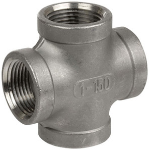 Smith Cooper Cast 150# Stainless Steel 4 in. Cross Fitting - Threaded