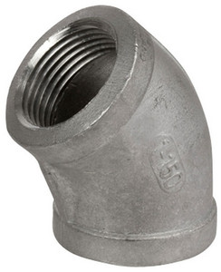 Smith Cooper Cast 150# Stainless Steel 1 1/4 in. 45° Elbow Fitting - Threaded