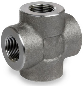 Smith Cooper 3000# Forged Carbon Steel 1 1/2 in. Cross Pipe Fitting - Threaded