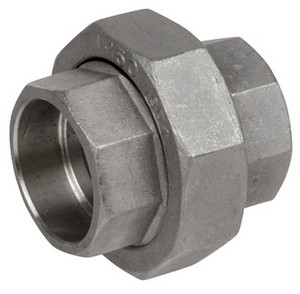 Smith Cooper 3000# Forged Stainless Steel 1 in. Union Fitting - Socket Weld