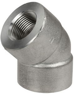 Smith Cooper 3000# Forged 316 Stainless Steel 1 1/2 in. 45° Elbow Fitting - Threaded