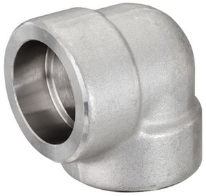 Smith Cooper 3000# Forged 316 Stainless Steel 1 1/2 in. 90° Elbow Fitting - Socket Weld