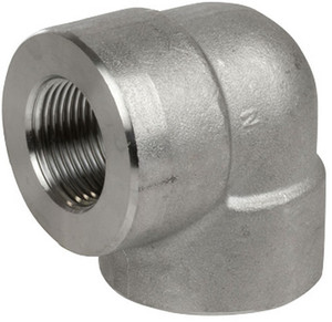 Smith Cooper 3000# Forged 316 Stainless Steel 1/2 in. 90° Elbow Fitting - Threaded
