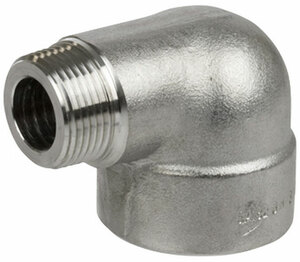Smith Cooper 3000# Forged 316 Stainless Steel 1 1/2 in. 90° Street Elbow Fitting - Threaded