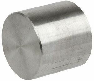 Smith Cooper 3000# Forged 316 Stainless Steel 1/2 in. Cap Fitting - Threaded