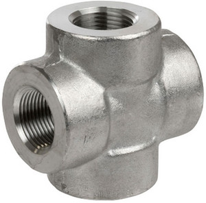 Smith Cooper 3000# Forged 316 Stainless Steel 1/4 in. Cross Fitting - Threaded