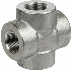 Smith Cooper 3000# Forged 316 Stainless Steel 2 in. Cross Fitting - Threaded