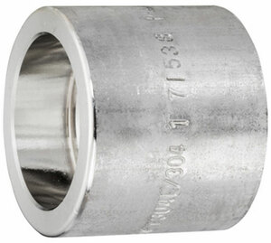 Smith Cooper 3000# Forged 316 Stainless Steel 1 in. Full Coupling Fitting - Socket Weld
