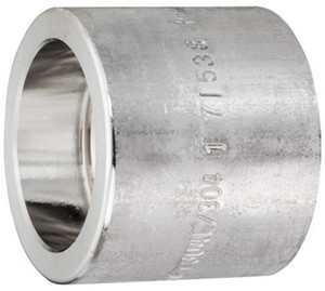 Smith Cooper 3000# Forged 316 Stainless Steel 1 1/2 in. Full Coupling Fitting - Socket Weld