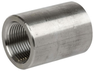 Smith Cooper 3000# Forged 316 Stainless Steel 1 1/4 in. Full Coupling Fitting - Threaded