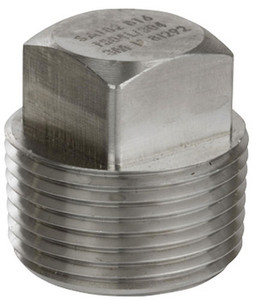 Smith Cooper 3000# Forged 316 Stainless Steel 1/2 in. Square Head Plug Fitting - Threaded