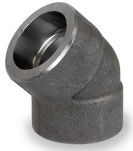 Smith Cooper 6000# Forged Carbon Steel 1 1/2 in. 45° Elbow Fitting - Socket Weld
