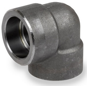 Smith Cooper 6000# Forged Carbon Steel 1 1/2 in. 90° Elbow Fitting - Socket Weld