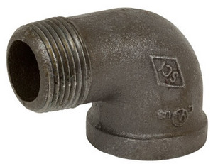 Smith Cooper 150# Black Malleable Iron 1 1/2 in. 90° Street Elbow Pipe Fittings - Threaded