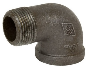 Smith Cooper 150# Black Malleable Iron 3 in. 90° Street Elbow Pipe Fittings - Threaded