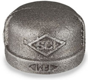 Smith Cooper 150# Black Malleable Iron 3 in. Cap Pipe Fittings - Threaded