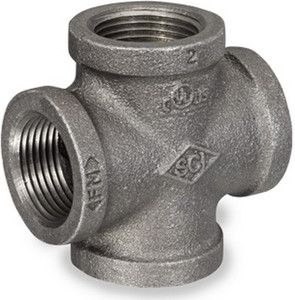Smith Cooper 150# Black Malleable Iron 1 1/2 in. Cross Pipe Fittings - Threaded